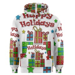Happy Holidays - gifts and stars Men s Pullover Hoodie