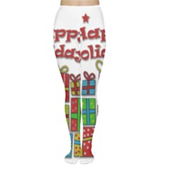 Happy Holidays - gifts and stars Women s Tights