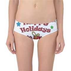Happy Holidays - gifts and stars Classic Bikini Bottoms