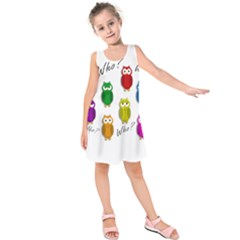 Cute owls - Who? Kids  Sleeveless Dress