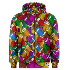 Cute owls mess Men s Zipper Hoodie