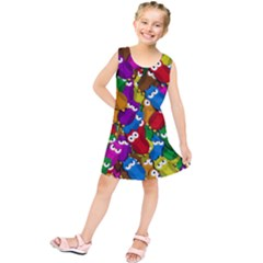 Cute owls mess Kids  Tunic Dress