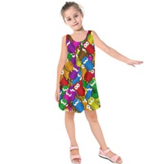 Cute Owls Mess Kids  Sleeveless Dress
