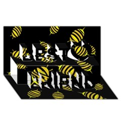 Decorative bees Best Friends 3D Greeting Card (8x4)