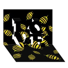 Decorative bees LOVE 3D Greeting Card (7x5)