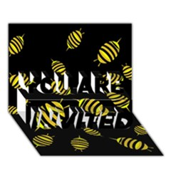 Decorative bees YOU ARE INVITED 3D Greeting Card (7x5)