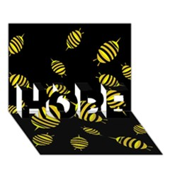 Decorative bees HOPE 3D Greeting Card (7x5)