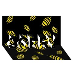 Decorative bees SORRY 3D Greeting Card (8x4)