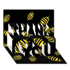 Decorative bees THANK YOU 3D Greeting Card (7x5)