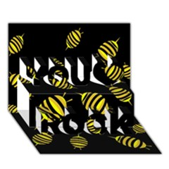 Decorative bees You Rock 3D Greeting Card (7x5)