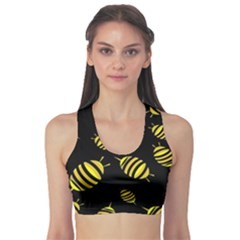 Decorative bees Sports Bra