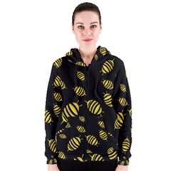 Decorative bees Women s Zipper Hoodie