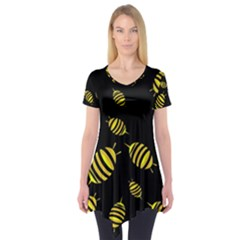 Decorative bees Short Sleeve Tunic