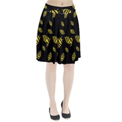 Decorative bees Pleated Skirt