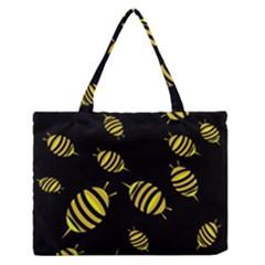 Decorative bees Medium Zipper Tote Bag