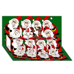 Did you see Rudolph? Best Friends 3D Greeting Card (8x4)