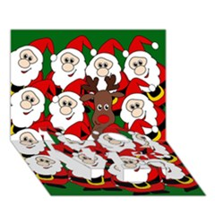 Did you see Rudolph? LOVE Bottom 3D Greeting Card (7x5)