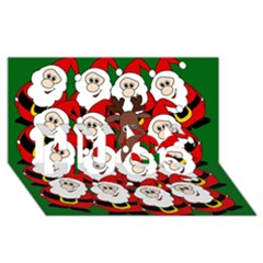 Did you see Rudolph? HUGS 3D Greeting Card (8x4)