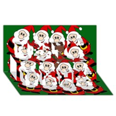 Did you see Rudolph? Best Wish 3D Greeting Card (8x4)