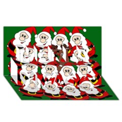 Did you see Rudolph? Merry Xmas 3D Greeting Card (8x4)