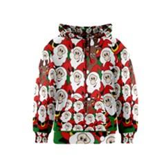 Did you see Rudolph? Kids  Zipper Hoodie