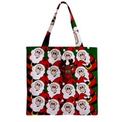 Did you see Rudolph? Zipper Grocery Tote Bag