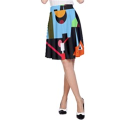 Abstract composition  A-Line Skirt