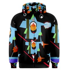 Abstract composition  Men s Zipper Hoodie