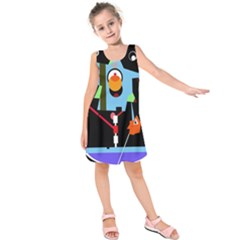 Abstract composition  Kids  Sleeveless Dress
