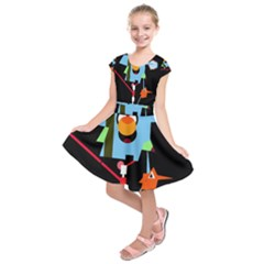 Abstract composition  Kids  Short Sleeve Dress
