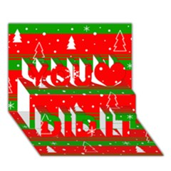 Xmas pattern You Did It 3D Greeting Card (7x5)