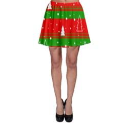 Xmas pattern Skater Skirt