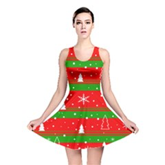 Xmas pattern Reversible Skater Dress