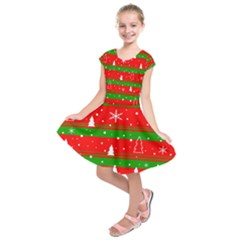 Xmas pattern Kids  Short Sleeve Dress