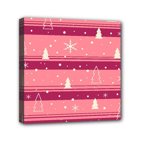 Pink Xmas Mini Canvas 6  x 6