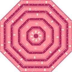 Pink Xmas Straight Umbrellas