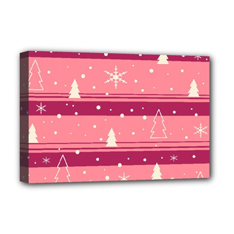 Pink Xmas Deluxe Canvas 18  x 12