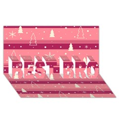 Pink Xmas BEST BRO 3D Greeting Card (8x4)