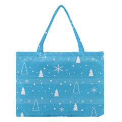 Blue Xmas Medium Tote Bag
