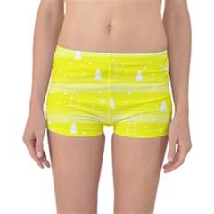 Yellow Xmas Boyleg Bikini Bottoms