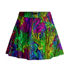 Hot Liquid Abstract A Mini Flare Skirt