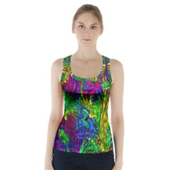 Hot Liquid Abstract A Racer Back Sports Top
