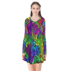 Hot Liquid Abstract A Flare Dress