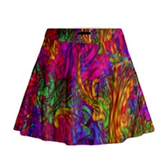 Hot Liquid Abstract B  Mini Flare Skirt