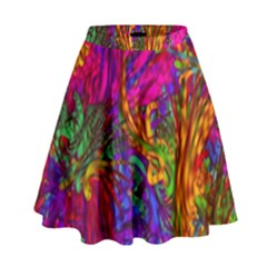 Hot Liquid Abstract B  High Waist Skirt
