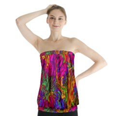 Hot Liquid Abstract B  Strapless Top
