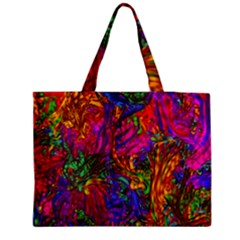 Hot Liquid Abstract B  Medium Zipper Tote Bag