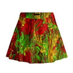 Hot Liquid Abstract C Mini Flare Skirt