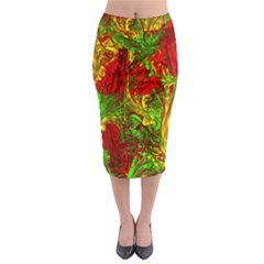 Hot Liquid Abstract C Midi Pencil Skirt