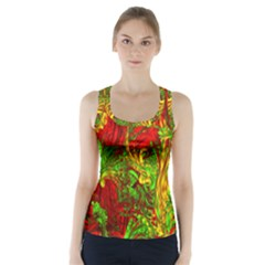 Hot Liquid Abstract C Racer Back Sports Top